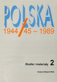Polska 1944/45-1989 : studia i materiały 2 (1997), Recenzje