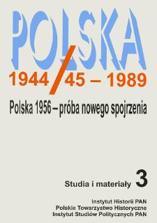 Polska 1944/45-1989 : studia i materiały 3 (1997), Strony tytułowe, spis treści