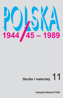 Wybrane problemy mieszkaniowe w miastach Polski w latach 1950–1956 w świetle akt Ministerstwa Gospodarki Komunalnej