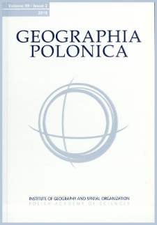 Geographia Polonica Vol. 89 No. 3 (2016), Contents