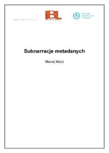 Subnarracje metadanych