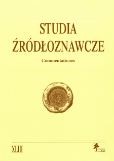 Studia Źródłoznawcze = Commentationes T. 43 (2005), Kronika