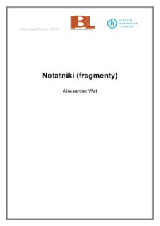Notatniki (fragmenty)