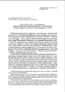 Śluz, modlitwa i laparoskopia. Popularyzacja naprotechnologii w kontekście polskiej debaty na temat zapłodnienia in vitro