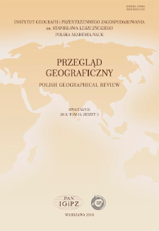 Przegląd Geograficzny T. 88 z. 3 (2016), Spis treści