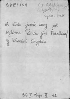Kartoteka Słownika języka polskiego XVII i 1. połowy XVIII wieku; Bdelion - Bezkształt