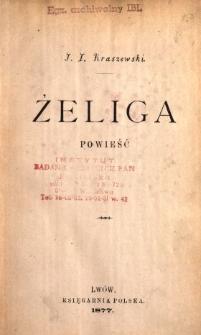 Żeliga : powieść