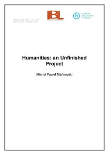 Humanities: an Unfinished Project