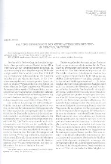 Relative Chronologie der mittelalterlichen Siedlung in Bielovce/Slowakei