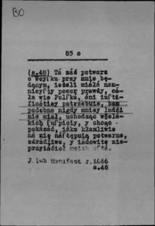 Kartoteka Słownika języka polskiego XVII i 1. połowy XVIII wieku; Bo