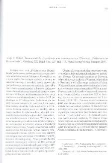 """Bronzezeitliche Depotfunde aus Transkarpatien (Ukraine), Josip V. Kobal """"Prahistorische Bronzefunde"""", Abteilung XX, Band 4, Stuttgart 2000 : [recenzja]"""