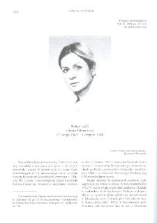 Hanna Lech z domu Młynarczyk 17 lutego 1949 – 6 sierpnia 2008