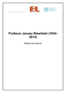 Profesor Janusz Sławiński (1934-2014)