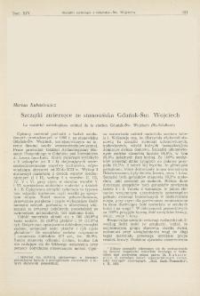 Szczątki zwierzęce ze stanowiska Gdańsk-Św. Wojciech