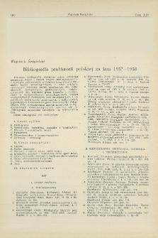 Bibliografia prahistorii Polski za lata 1957—1958