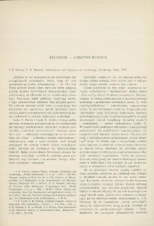 Mathematics and Computers in Archeology, J. E. Doran , F. R. Hodson, Cambridge, Mass. 1975 : [recenzja]