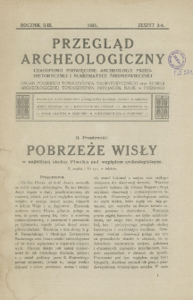 Pobrzeże Wisły w najbliższej okolicy Płocka pod względem archeologicznym