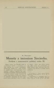 Monety z imieniem Sieciecha : studjum z numizmatyki polskiej wieku XI