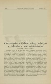 Cmentarzysko z śladami kultury wikingów w Łubówku, w pow. gnieźnieńskim