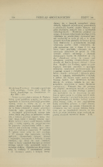 Zwyczaje pogrzebowe ludu polskiego, Adam Fischer, Lwów, 1921 : [recenzja]