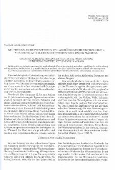 Geophysicalische Prospektion und archäologische Untersuchung von mittelalterlichen befestigten Siedlungen Mährens