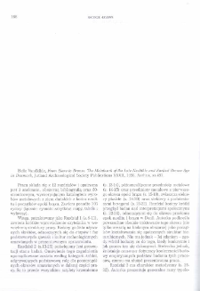 From Stone to Bronze. The Metalwork of the Late Neolithic and Earliest Bronze Age in Denmark, Helle Vandkilde, Jutland Archaeological Society Publications XXXII, Aarhus 1996 : [recenzja]