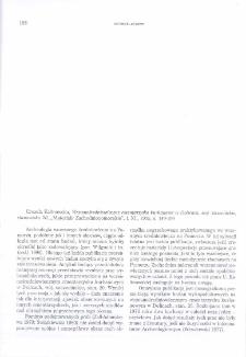 """Wczesnośredniowieczne cmentarzysko kurhanowe w Dolicach, woj. szczecińskie, stanowisko 20, Urszula Kalinowska, """"Materiały Zachodniopomorskie"""", t. XL, 1995, s. 149-199 : [recenzja]"""