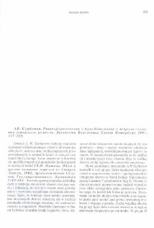 Rannesrednevekovaâ obuv' Povolhov'â i voprosy složenii gorodskogo remesla, A.V. Kurbatov, Drevnosti Povolhov'â, Sankt Peterburg 1997, s. 117-128 : [recenzja]