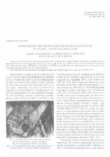 Instrumenty strunowe z badań archeologicznych w Polsce - przegląd znalezisk