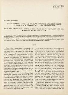 Ziemie polskie a Wielkie Morawy : studium archeologiczne kontaktów w zakresie kultury materialnej
