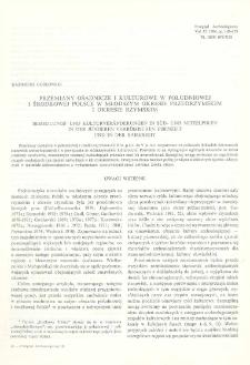 Przemiany osadnicze i kulturowe w południowej i środkowej Polsce w młodszym okresie przedrzymskim i okresie rzymskim