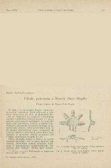 Fibula palczasta z Nowej Huty-Mogiły