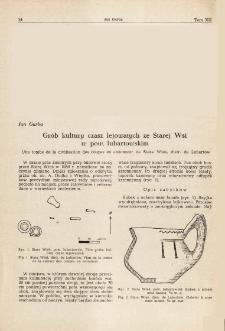 Grób kultury czasz lejowatych ze Starej Wsi w pow. lubartowskim