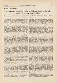 Piec kultury łużyckiej z okresu halsztackiego ze Strzelec (stan. 3) w pow. mogileńskim
