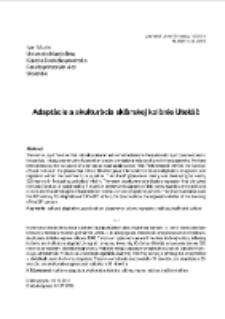 Adaptácie a akulturácia sklárskej kolónie Utekáč