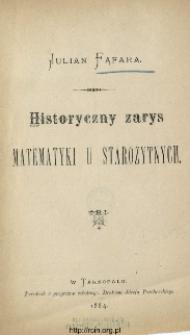 Historyczny zarys matematyki u starożytnych