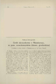 Grób skrzynkowy z Niemierzyc, w pow. nowotomyskim (dawn. grodziskim)