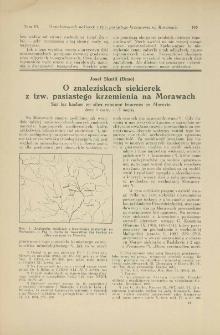 O znaleziskach siekierek z tzw. pasiastego krzemienia na Morawach