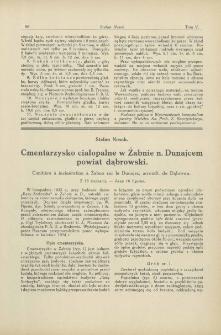 Cmentarzysko ciałopalne w Żabnie n. Dunajcem, powiat dąbrowski