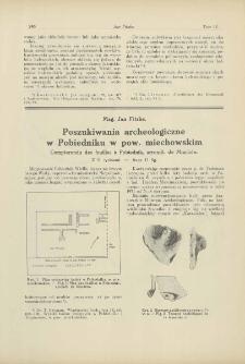 Poszukiwania archeologiczne w Pobiedniku w pow. miechowskim