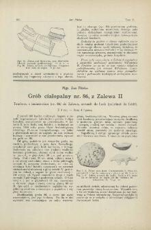 Grób ciałopalny nr. 86, z Zalewa II