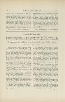 Sprawozdanie z poszukiwań w Tarnowicy, w pow. jaworowskim (woj. lwowskie) w gminie Bruchnal (włas. hr. Leona Szeptyckiego)