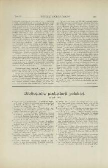 Vorgeschichtliche Jahrbuch. Bd. 2, Bibliographie des Jahres, Berlin, 1926 : [recenzja]