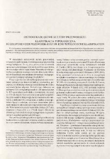 Ostrogi kabłąkowe kultury przeworskiej : klasyfikacja typologiczna