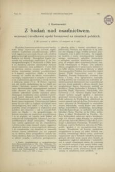 Z badań nad osadnictwem wczesnej i środkowej epoki bronzowej na ziemiach polskich