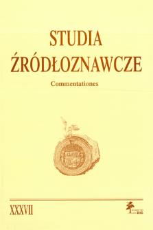 Polskie itineraria średniowieczne i nowożytne : przegląd badań i propozycje badawcze