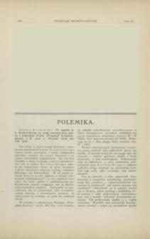 O replice p. L. Kozłowskiego na moją recenzję jego pracy o paleolicie Polski