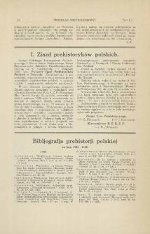I. Zjazd prehistoryków polskich