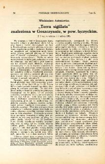 """""""Terra sigillata"""" znaleziona w Goszczynnie, w pow. łęczyckim"""