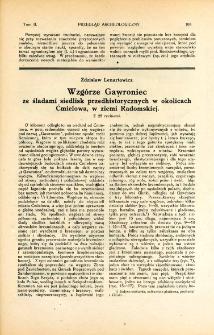 Wzgórze Gawroniec ze śladami siedlisk przedhistorycznych w okolicach Ćmielowa, w ziemi Radomskiej